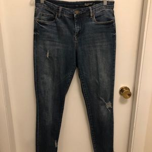 Blanknyc cropped frayed jeans